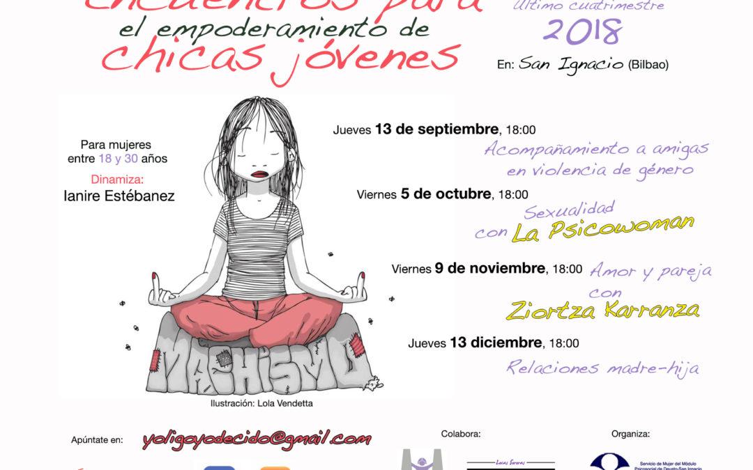 Encuentros para mujeres jóvenes hasta diciembre